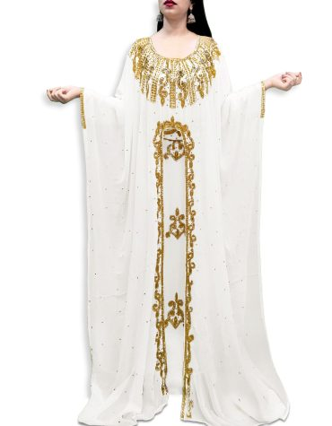 African Attire Bridesmaid Long Maxi Beaded Formal Dubai Kaftan for Women