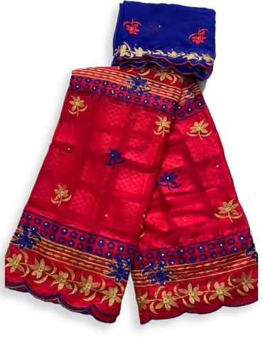 Elegant Party Wear Swiss Voile Designer Cotton Piece Dubai Embroidery Dress Material