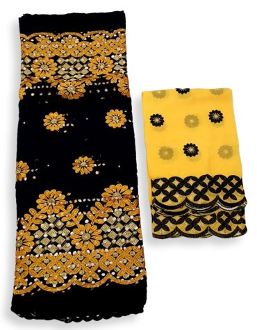 Trendy Elegant African Fancy Swiss Voile Cotton Piece With Super Premium Embroidery Dress Material