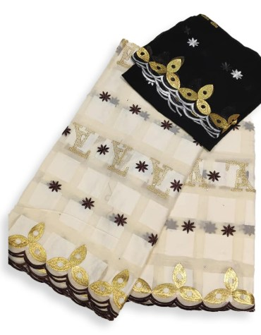 New Elegant African Fancy Swiss Voile Cotton Piece With Super Premium Embroidery Dress Material