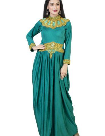 Latest Dubai Premium Moroccan Beaded Kaftan Women Muslim Wedding Designer Dresses For Women