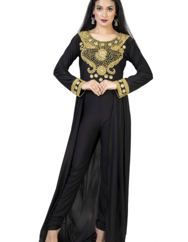 African New Long Sleeve Plus Size Beaded Moroccan Kaftans Dresses For Women