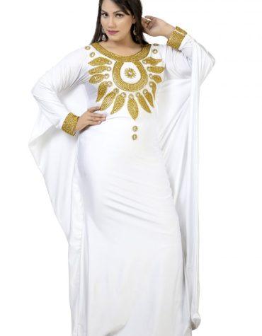 African Moroccan Beaded Fancy Wedding Trendy Party Wear Lycra kaftan for Women