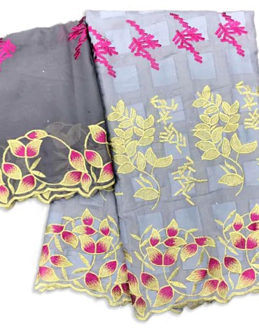 New Fashion Collection Swiss Voile Designer Cotton Piece Embroidery Dress Material