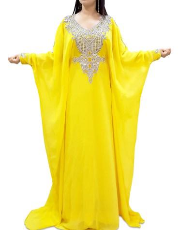 African Attire Maxi Evening Dress For Women Abayas Plus Size Moroccan Dubai Kaftan