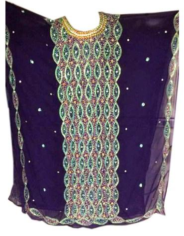 Heavy Shiny Stone Beaded Dubai Chiffon Kaftan for Evening Party Wear for Women
