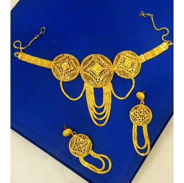 Exotic Trendy Necklace Gold Platted Choker Latest Party Jewellery for Women