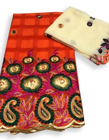 Fabulous Quality Swiss Voile Designer Cotton Piece Dubai Embroidery Dress Material