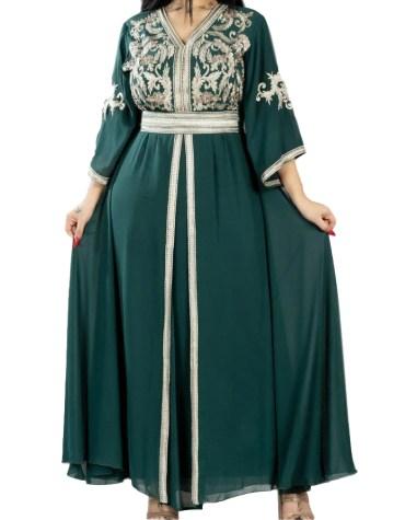 African New Evening Party Wear Abaya Long Formal Beaded Dubai Kaftan for Women