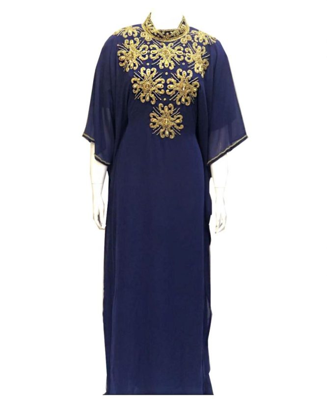 African Attire With Long Sleeve Designer Party Wear Evening Abaya Dress for Women