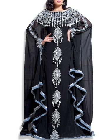 New Arrived Princess Party Wear Collection Stylish Dubai Chiffon Kaftan for Women
