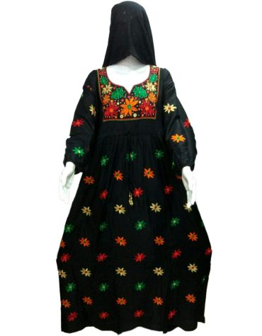 Latest Collection Elegant Designer Embroidered Super Rayon Long Dress For Women