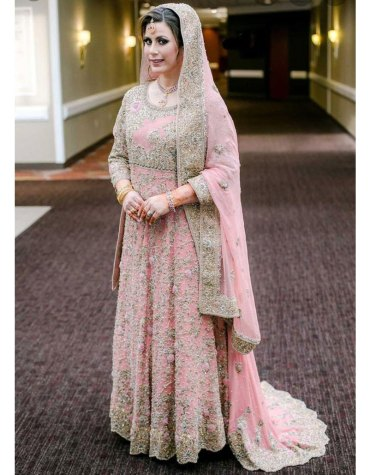 Premium Designer Bridal wear Crystal Beaded Long Sleeves Wedding Dress For Women