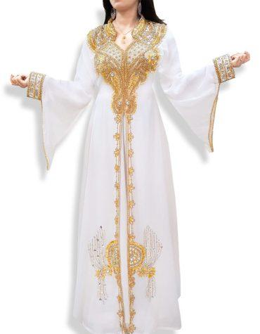 African Attire Bridesmaid Abaya Long Maxi Beaded Formal Dubai Kaftan for Women