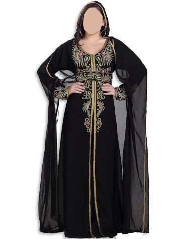 Trendy African Rhinestone & Embroidered Hoodie Party Wear Dress For Women