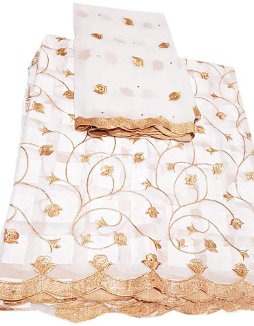 Premium Swiss Voile Designer Elegant Cotton Piece Embroidery Dress Material For Women