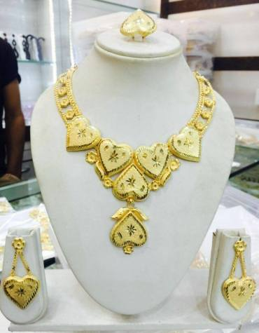 Latest Brilliant Classic Design 2 Gram Gold Plated Necklace Set For Party For Women