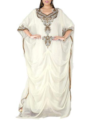 Latest Festival Collection Farasha Moroccan Beaded Work Kaftan Women Designer Dresses