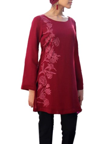 New Trendy African Formal Summer Wear Stylish Hand Embroidery Kurti for Women