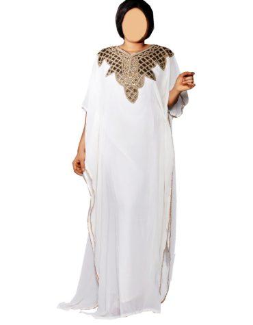 African Attire Bridesmaid Chiffon Morrocan Beaded Formal Dubai Kaftan for Women