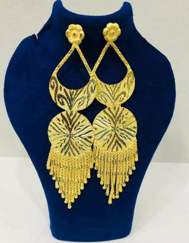 Premium Intricate Jhumka PatternTrendy Designer Gold Platted Earrings Women Jewellery