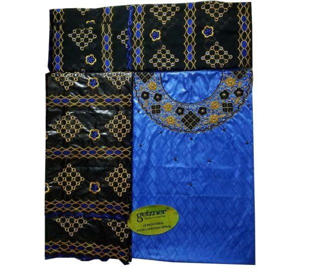 Premium Embroided 100% Super Magnum Gold Getzner Riche Bazin Beaded Dress Material