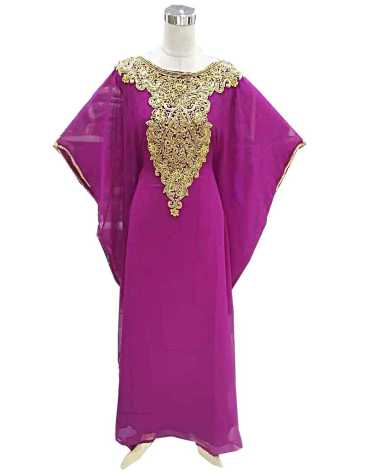 African New Design Embroidery Moroccan Beaded Elegant Women Dubai Kaftan Dress