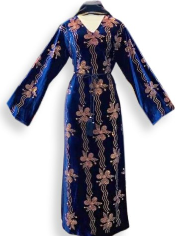 Trendy Long Sleeve Design Wedding Collection Evening Kaftan Party Dress For Women