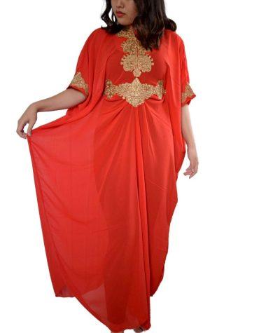 Briliant Collection Full Sleeve Simple Design Fashion Dubai Kaftan Dress For Women
