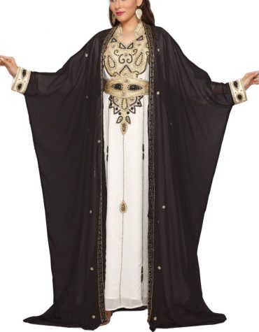 Party Collection With Floral Jacket Kaftan With Beads & Crystal Beads Work For Women