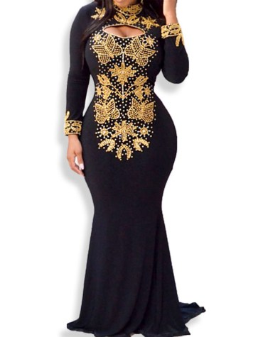 Fashion Collection Adorable Designer Full Sleeve Beaded Beautiful Prom Dress For Women