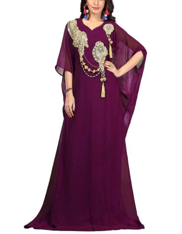 Elegant Designer Golden Embroidery Work Party Maxi Gown Evening Dress For Women