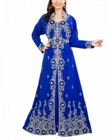 Latest Party Special Dubai Kaftan Elegant Gown Super Beaded Work Dress For Women