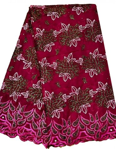 Premium Embroidered Ladies New Swiss voile Cotton with dress Material For Women