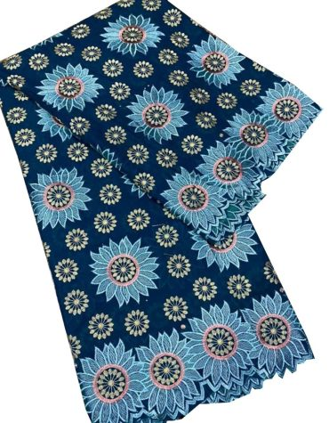 Fashionable Women Embroidered Swiss voile Cotton Exotic Attire with dress Material For Women