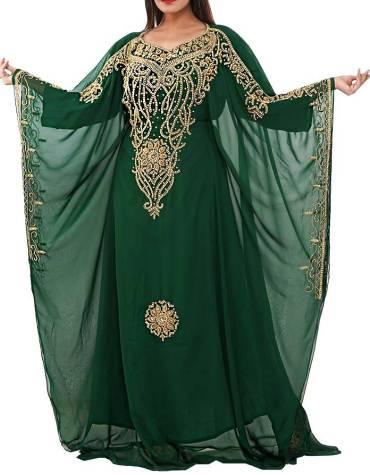 African Latest Caftan Dress Long Sleeve Formal Maxi Gown Evening Dress for Women