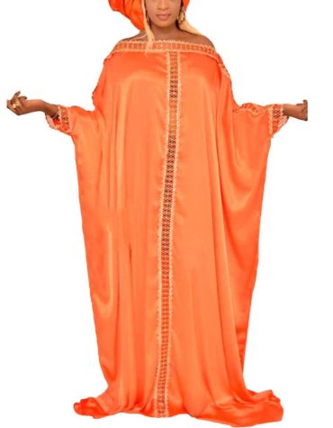 Farsha Style Collection Soft Premium Classic Lace Work Elegant Satin Sik Dress For Women