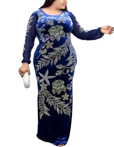 Luxury Collection Party Wear Floral Super Beaded Designer Velvet Gown For Women