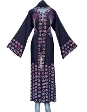 New Brilliant Collection Floral Abaya For Women Premium Rhinestone Work For Women