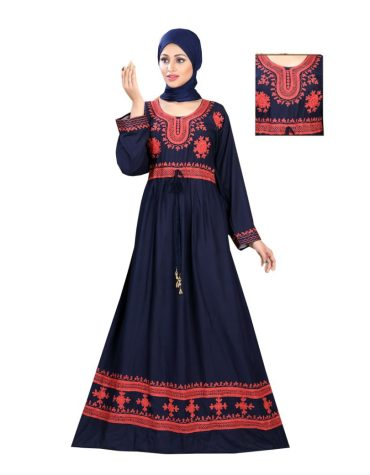 Latest Attire Arrival Embroidered Rayon Long Dress Stitched Gown