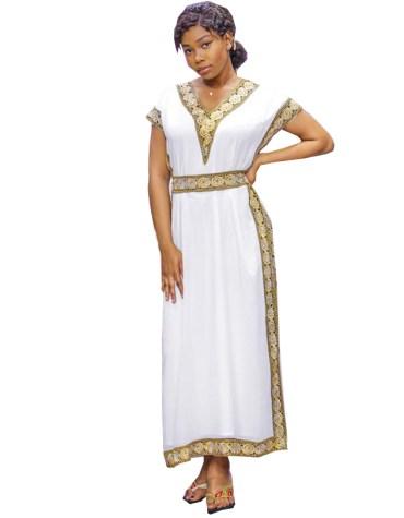 Beautiful New Long Elegant Satin Silk Dress Lace Work For Women