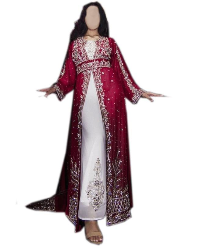 New Designer Plus Size Formal Kaftan with Jacket Wedding for Women