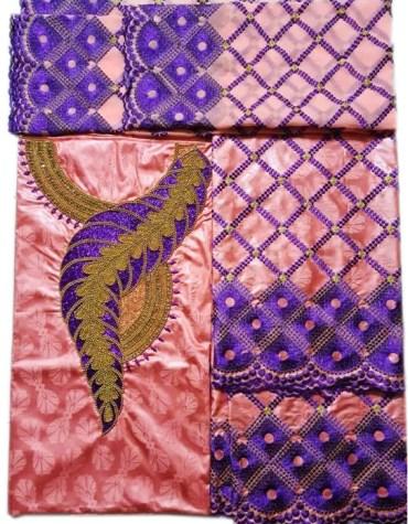 Latest 100% Super Magnum Gold Getzner Bazin For Women Dress Material