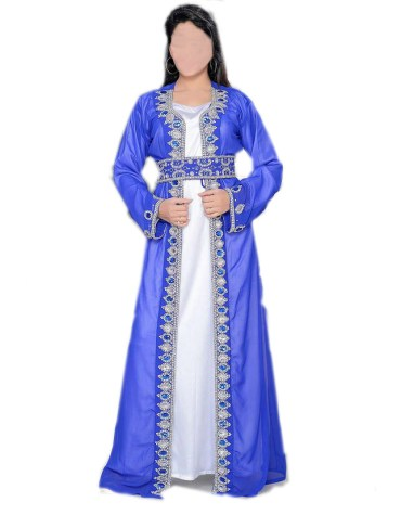 Jacket Style Silver Stone Work on Dress Beaded Gown For Women