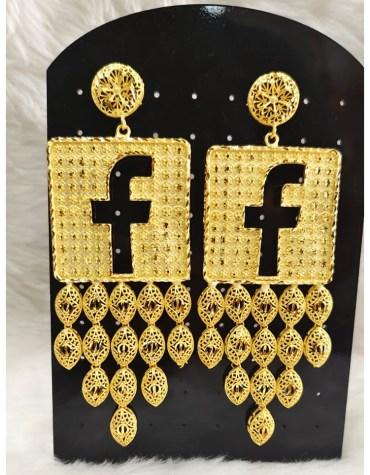 Fancy Facebook Earrings African Jewelry Emerald For Women