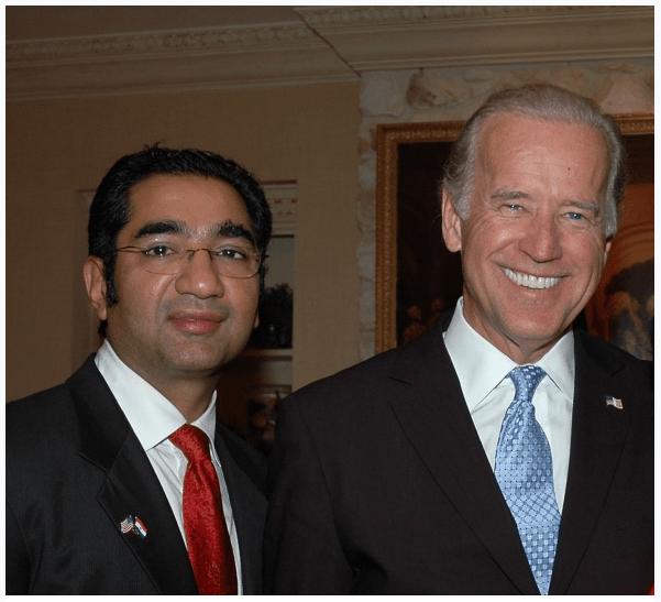 USINPAC Chairman Sanjay Puri and President-Biden