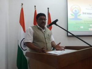 Indian High Commissioner, Birender Singh Yadav addressing the journalists
