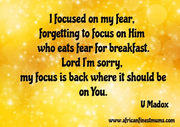 Africanfinestmums - Quote of the week - Getting focus right