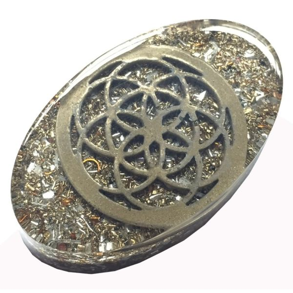 Orgonite seed of life within Orgonite Mini Tower Buster