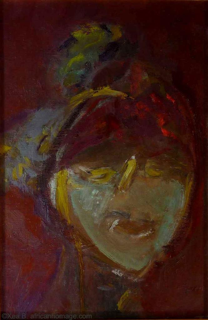 African Symbolic portrait